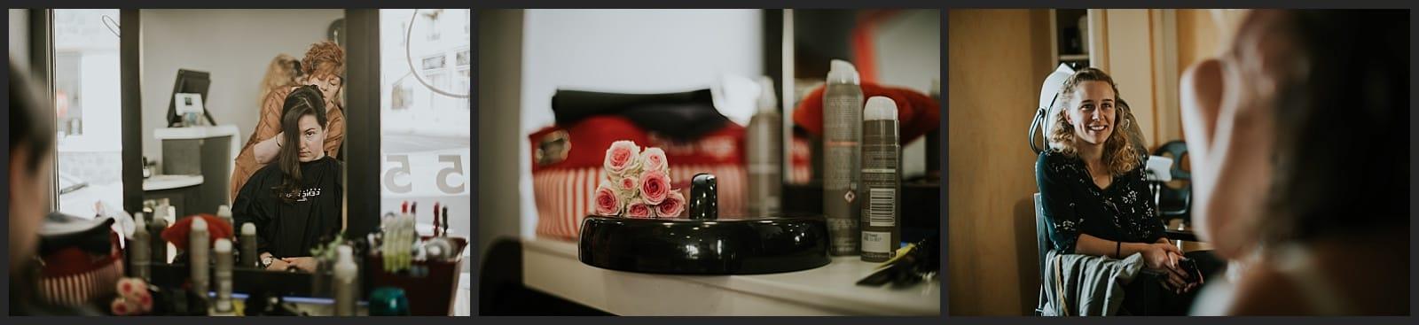 Photo de coiffure de mariée à Limoges au salon hair'styl Coiff par Vivien Malagnat