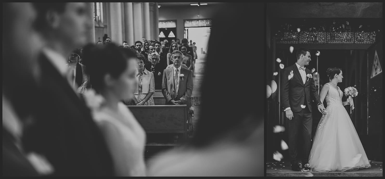 parents des mariés à l'Eglise Saint Joseph à Limoges et sorti des mariés de l'église