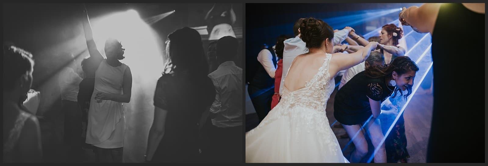 Invités faisant la fête au clos des cèdres à Limoges, photographe de mariage vivien malagnat