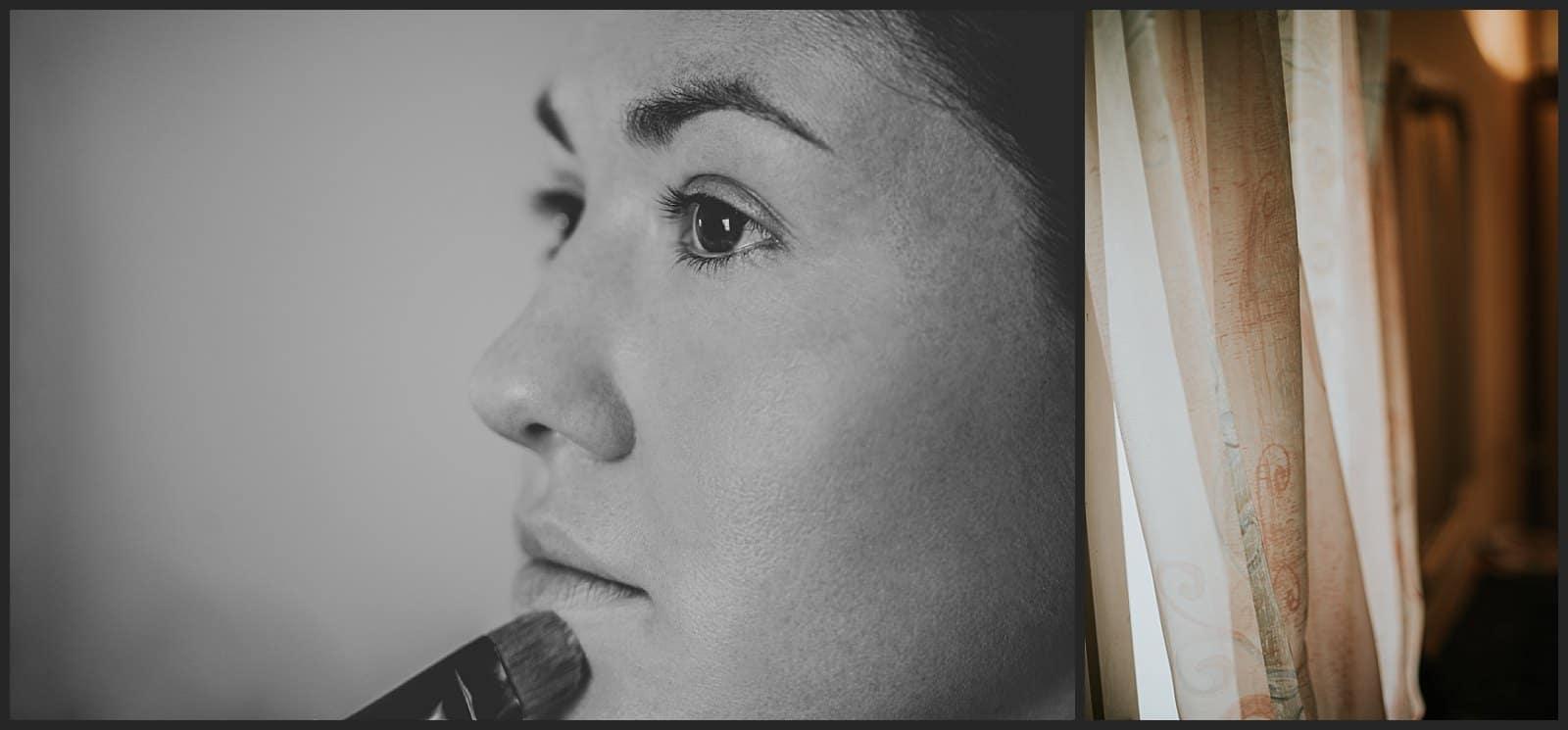 Détails de maquillage par le photographe vivien malagnat à Limoges au salon hair styl coiff