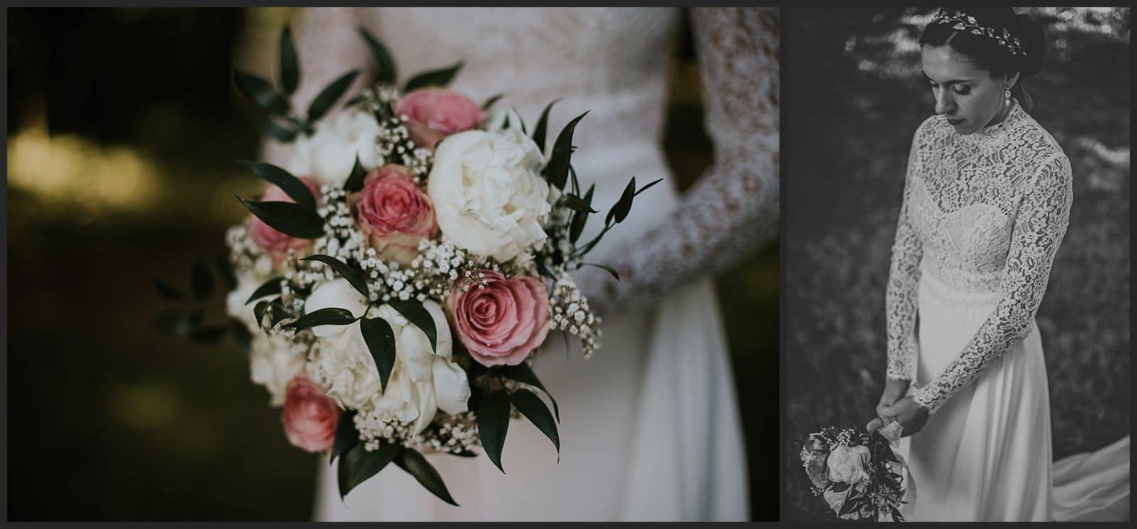 bouquet de la mariée robe Céline Haudebourg