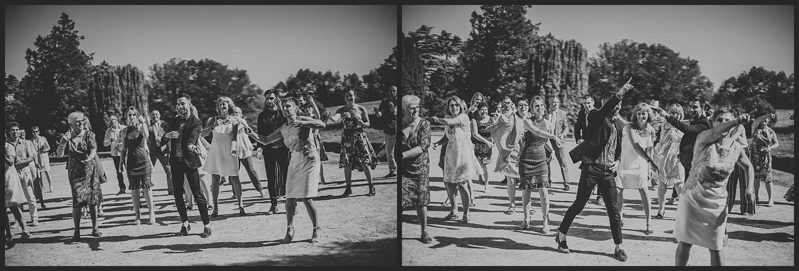 photo flashmob surprise pour les mariées danse