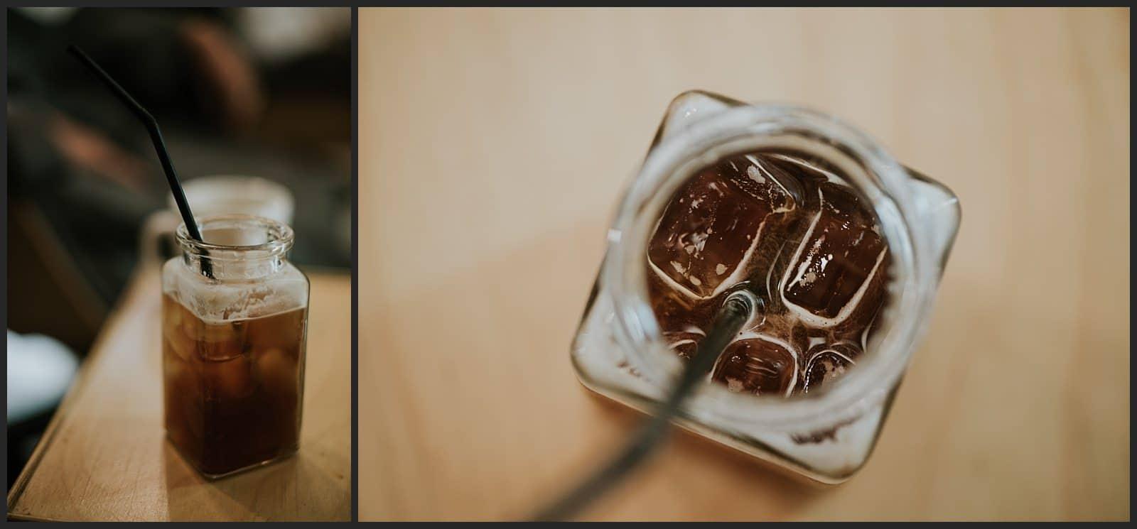 café glacé coréen au salon Pinetree à Séoul