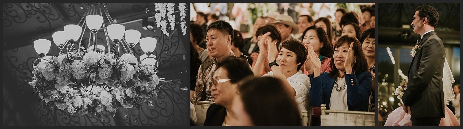 détails Wedding hall Seoul, invité et mariés photographe vivien malagnat
