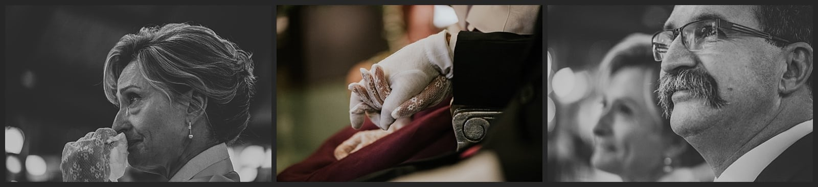 émotions des parents du marié, larmes et détails de main par le photographe vivien malagnat