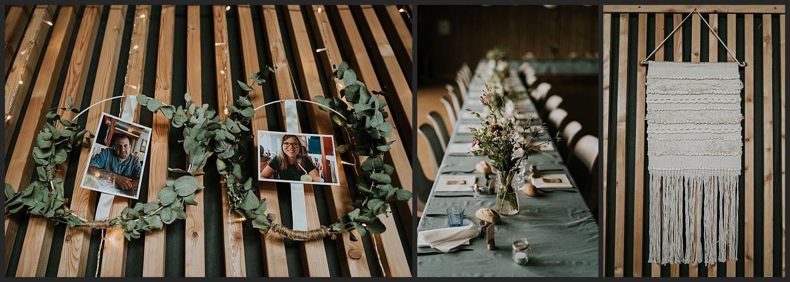 décoration de la salle et de la table au mariage