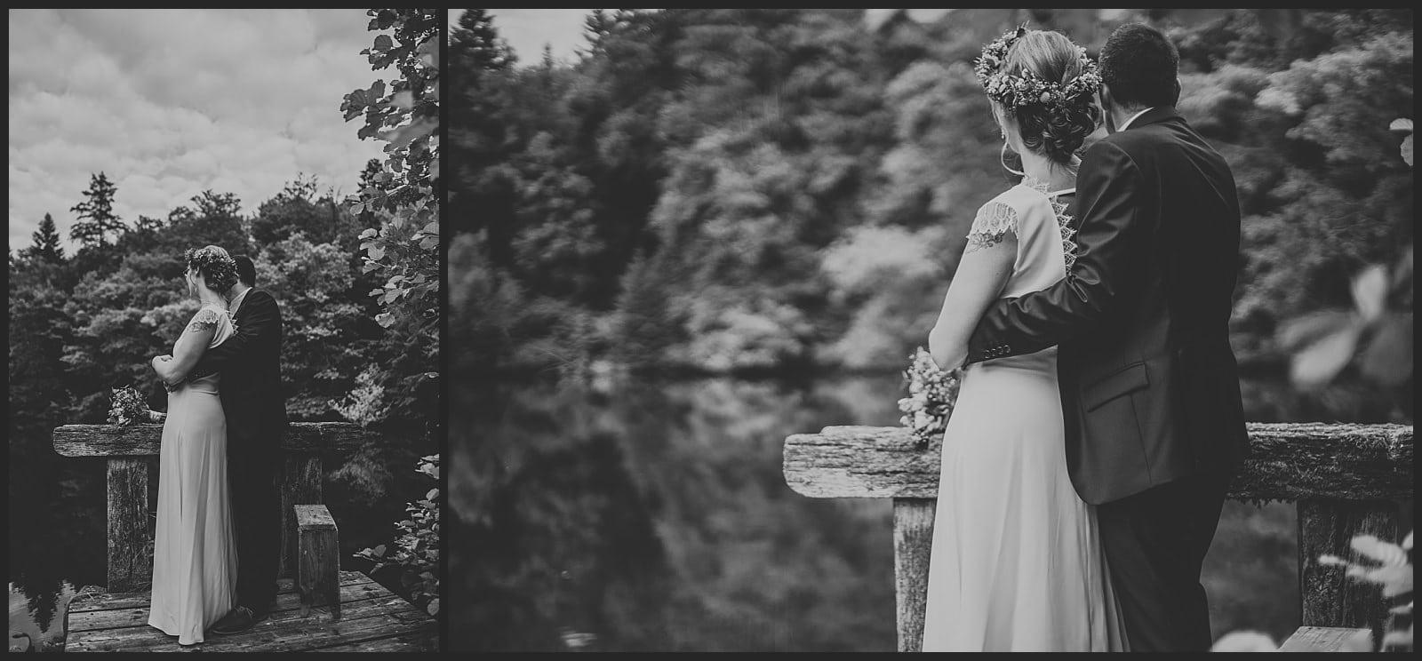 seance couple a coté de l'étang des mariés