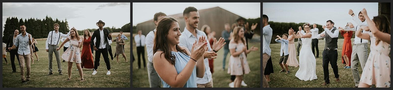 flash mob des invités au mariage