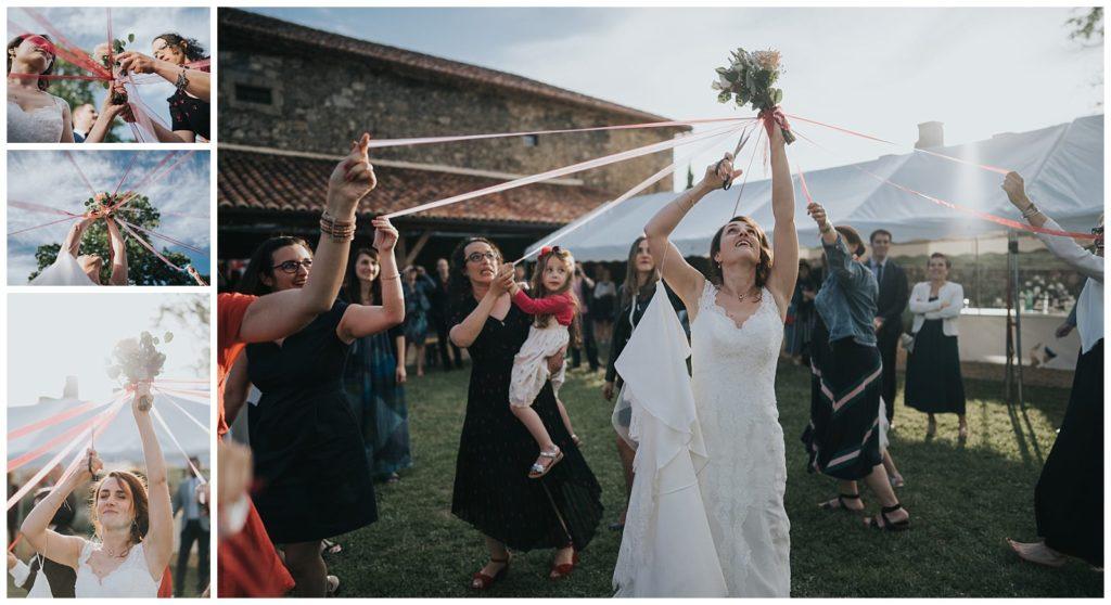 cérémonie des rubans au chateau de losmonerie