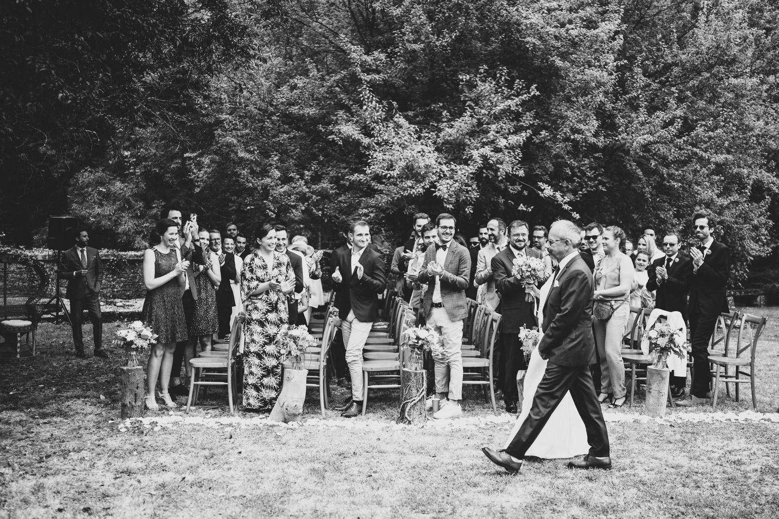 Photographe de mariage à Limoges - Début de cérémonie laique prise par vivien malagnat