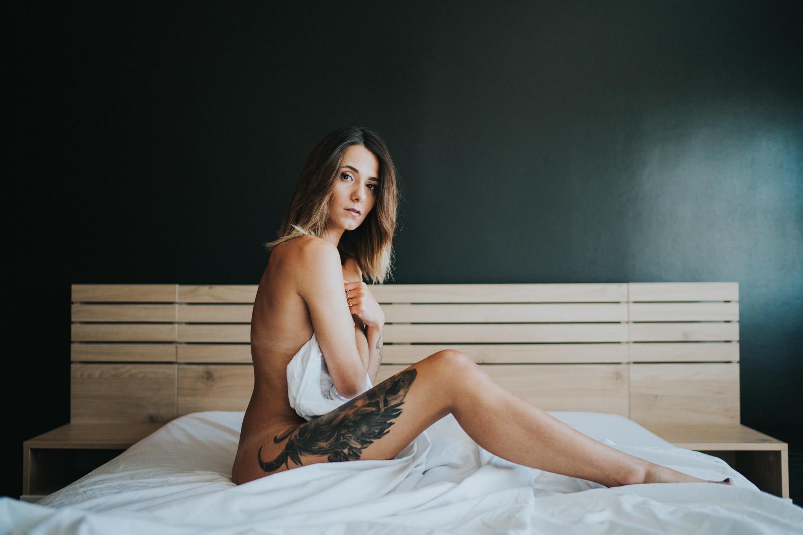 photographie de boudoir à limoges avec Aurelie