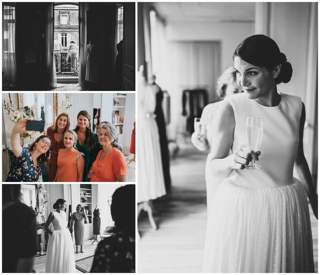 mariée dans une maison de couture à limoges