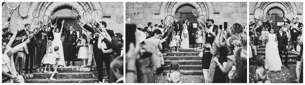 Sortie des mariés de l'église